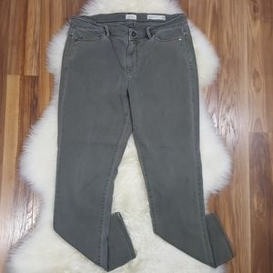J.Jill Denim Olive Authentic Fit Slim Ankle Sz 10